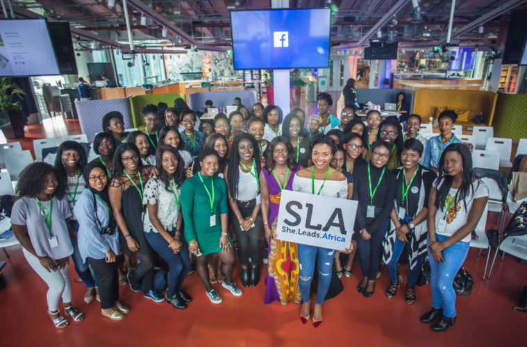Zeze Oriaikhi-Sao, a specialist motivational speaker at She Leads Africa at Facebook London